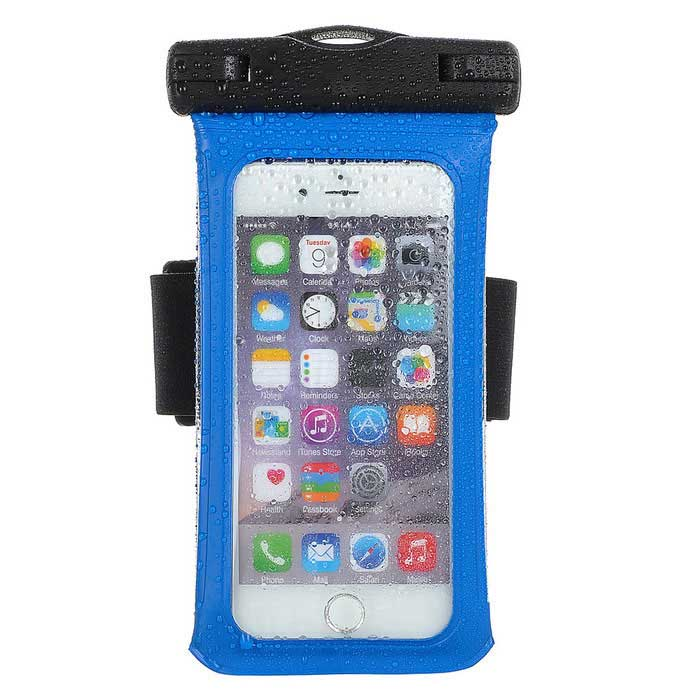 Jtron 4.7 Inches Waterproof Case for Smart Phone - Blue+Black