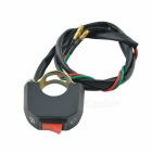 Motorcycle Handlebar ON/OFF Switch for 12V DC Fog Lamp - Black + Red