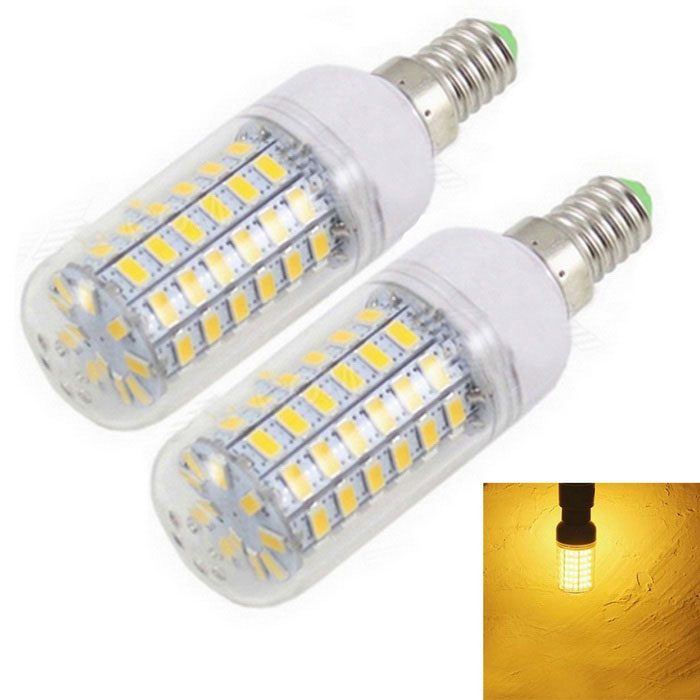 E14 4W Corn Bulb Warm White 3000K 1200lm 69-5730 SMD (2PCS)
