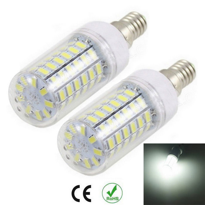 E14 12W Corn Bulbs Cold White 1200lm 69-5730 SMD (AC 220~240V / 2PCS)