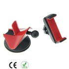 Universal Uniaxial de tração Navigation Phone Holder - Black + Red