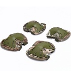 Sports Skating Tactical Knee & Elbow Safety Support Protector Guard Pads Set - Camouflage