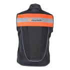 RidingTribe Reflective Riding Safety Vest - Black + Orange (L)