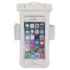 "Jtron 100% Waterproof PVC + ABS Case for 4.7"" Smart Phones - White"