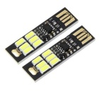 2PCS 1W 90lm 6500K White Light Stepless Dimming Mini USB LED Camping Light Lamp w/ Touch Switch