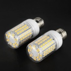 E27 9W LED Corn Lamps Warm White 3000K 1600lm 96-SMD - White (2PCS)