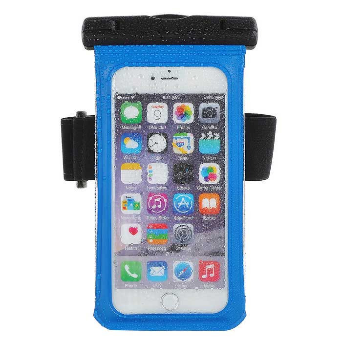 Jtron 5.5 Inches 100% Waterproof Case for Smart Phone - Black +Blue