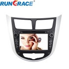 Rungrace RL-499WGDR 7-inch 2 Din In-Dash Car DVD Player for Hyundai Verna With BT, GPS, RDS, DVB-T