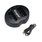 Kingma 2-Battery USB Charger for Canon LP-E10 EOS 1200D 1100D Rebel T5