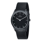 Genuine Fjord FJ3007-33 Munan IP Black Stainless Steel Mesh Watch - Black