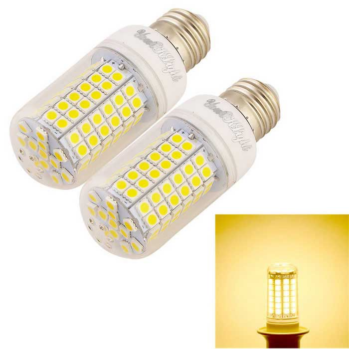 youoklight E27 12W 1100lm 96-SMD LED warm wit licht corn lamp (2 stuks)