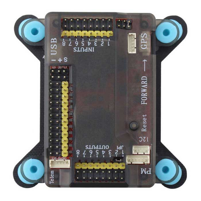 APM2.8 Placa do controlador w / amortecedor para Multicopter - preto