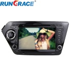 Rungrace 8-inch 2-Din TFT Screen In-Dash Car DVD Player for Kia K2 w/ Bluetooth, GPS, RDS