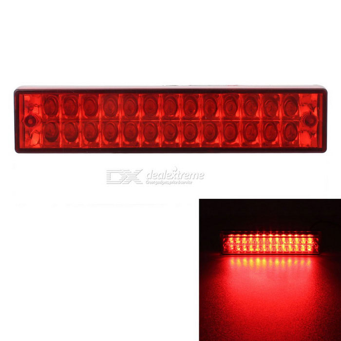 MZ waterdichte 5W Wired 26-LED Rood Knippert Staart van de Auto Brake Light Lamp