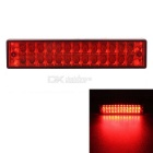 MZ Universal Waterproof 5W Wired 26-LED Red Flashing Car Tail Brake Light / Rear Fog Lamps (12V)