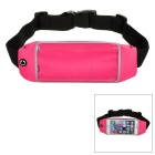 Mini Smile Outdoor Sports Adjustable Nylon Waist Band for IPHONE 6 PLUS - Deep Pink