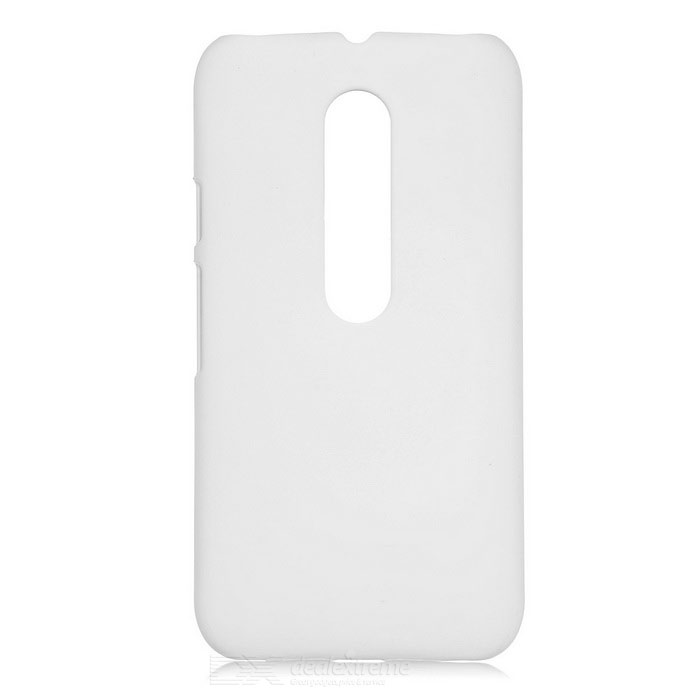Mini Smile Matte ABS Back Case Cover for Motorola MOTO G3 - White