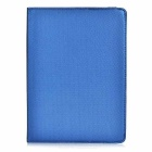 Rotary Protective TPU + PU Case Cover w/ Auto-Sleep & Stand for IPAD AIR 2 - Deep Blue