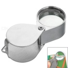 Portable Fold-up Stainless Steel + Glass 20X 21MM Magnifier for Jewelry - Silver