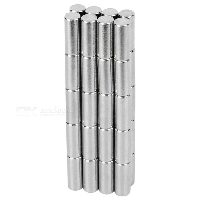 4 * 10mm ímã cilíndrico do ndfeb - prata (40PCS)