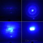 5-In-1 5mW 405nm Blue Light Laser Pen w/ Adapter - Silver + Multicolor