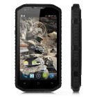 "NO.1 X6800 Android 4.4 Quad-Core-4G Wasserdichte Smartphone w / 5,5 ""Display, 1GB RAM, 8 GB ROM - Schwarz"