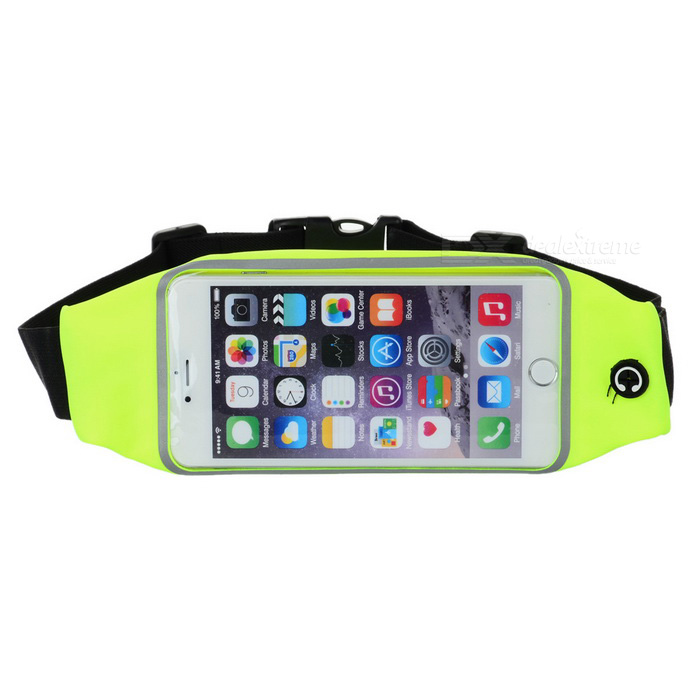 Sports ajustável Nylon cintura Band para iPhone 6 / 6S PLUS - verde
