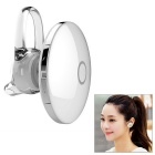 Universal Round Shaped Bluetooth V4.1 In-Ear Headset w/ Mic - Silver + White