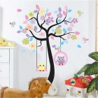 DIY Cartoon Tree Wall Decal PVC Wall Sticker - White + Pink + Multi-Colored