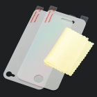 LCD Screen Protective Mirror Film Set with Cleaning Cloth for iPhone 4 (2-Piece Set)