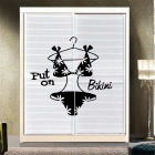 Bikini Wardrobe Wall Decal PVC Wall  Sticker - Black