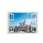3D Beautiful Landscape Wall Decal PVC Wall Sticker - Sapphire Blue
