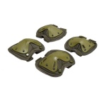 Sports Skating Tactical Knee & Elbow Safety Support Protector Guard Pads Set - Army Green