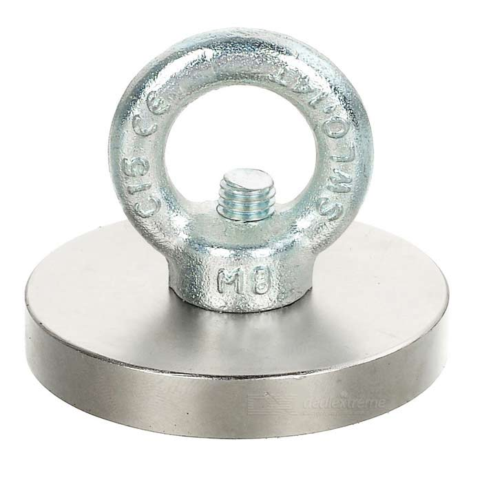 D60*10mm NdFeB Eyebolt CiR/Cular Ring Magnet for Salvage - Silver