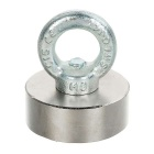D50*20mm NdFeB Eyebolt CiR/Cular Ring Magnet for Salvage - Silver