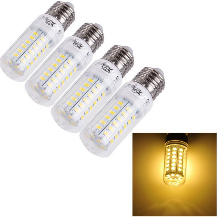 YouOKLight E27 15W LED Corn Light Bulb Warm White 3000K 56-SMD (4PCS)E27<br>Form  ColorWhiteColor BINWarm WhiteModelYK1156MaterialAL + PCQuantity1 DX.PCM.Model.AttributeModel.UnitPowerOthers,15WRated VoltageOthers,AC 110~120 DX.PCM.Model.AttributeModel.UnitConnector TypeE27Chip BrandOthers,SananEmitter TypeOthers,5730 SMDTotal Emitters56Theoretical Lumens1500 DX.PCM.Model.AttributeModel.UnitActual Lumens1480 DX.PCM.Model.AttributeModel.UnitColor Temperature3000KDimmableNoBeam Angle360 DX.PCM.Model.AttributeModel.UnitPacking List4 x LED Corn Bulbs<br>