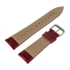 PUDINI Split Leather Watch Band,Screen Film for 38mm APPLE WATCH - Red