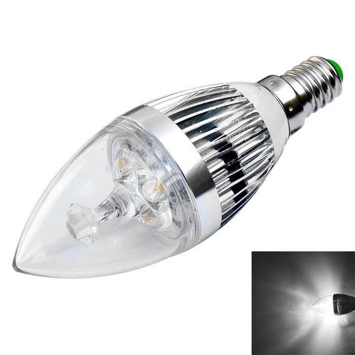 JIAWEN E14 3W LED Candle Bulb Cold White Light 300lm (AC 85~265V)