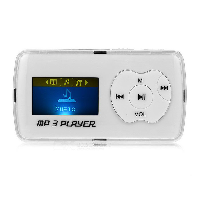 "1.1 Player "" OLED MP3 w / Mini USB / TF / 3.5mm - Blanco + plata"