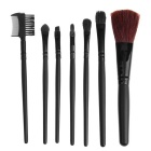 7-in-1 Professional Cosmetic Tool Makeup Brushes Set - Black