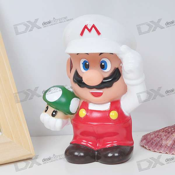 Plastic Mario Coin Bank - Red + White