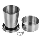 Keychain de la taza retractable del acero inoxidable de sunfield - plata (150ml)