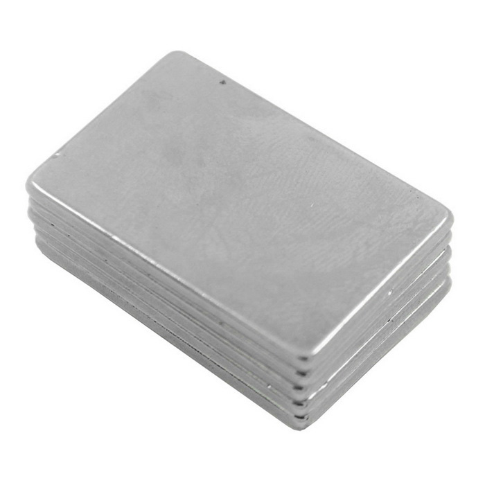 30*20*2mm Rectangle NdFeB Neodymium Magnets DIY Set - Silver (5PCS)