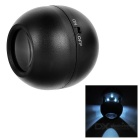 Ball Shaped 2.5X Simple Telescope w/ LED Light - Black