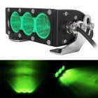 Waterproof Wired 30W 3-XML 2550lm LED Worklight Bar  / Foglight Flood Green Light (9~60V)