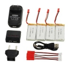 750mAh Battery + 1-to-4 Charger + TOL Adapter + More Set - Multicolor