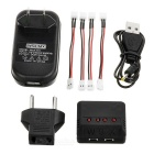 X4A-C 1-to-4 Charger + TOL Adapter + Cable + More Set - Black + Red