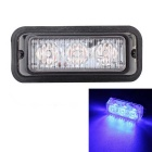 MZ Wired 9W 3-LED Car Flashing Warning Signal / DRL / Driving Lamp Blue Light 480nm 540lm (12~24V)