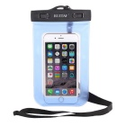 RUITAI Universal Protective Waterproof Case Pouch w/ Strap for IPHONE 6 + More - Blue + Black