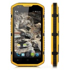 "NO.1 X6800 Android 4.4 Quad-core 4G Waterproof Phone w/ 5.5"" Screen, 1GB RAM, 8GB ROM - Orange"